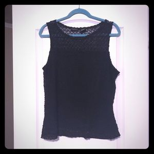Black crochet tank top